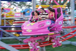 Pink pole car