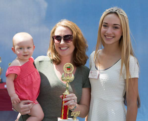 Cutest Baby - Olivia (with mother and Strawberry Festival Royalty)