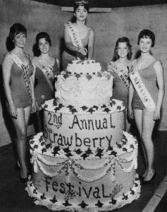 1959 2nd annual Garden Grove Strawberry Festival cake