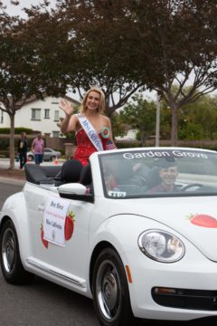Bree Morse in in Garden Grove Strawberry Festival parade