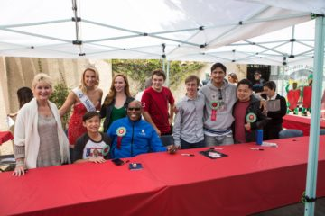 Celebs at signing table at Garden Grove Strawberry Festival