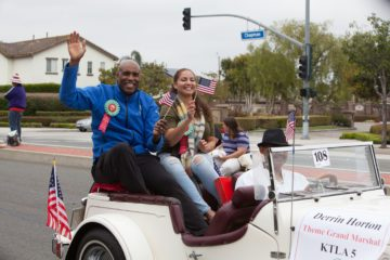 Derrin Horton in Garden Grove Strawberry Festival parade