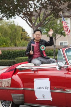 Matthew Moy in Garden Grove Strawberry Festival parade