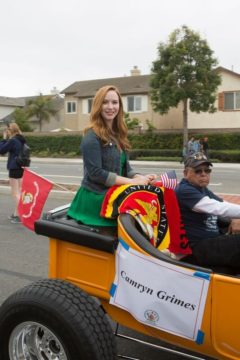 Camryn Grimes in at Garden Grove Strawberry Festival parade