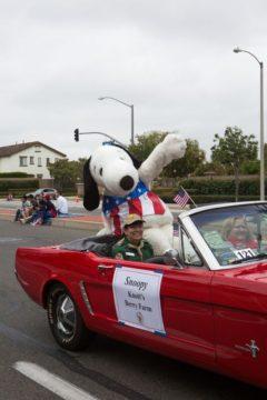 Snoopy in Garden Grove Strawberry Festival parade